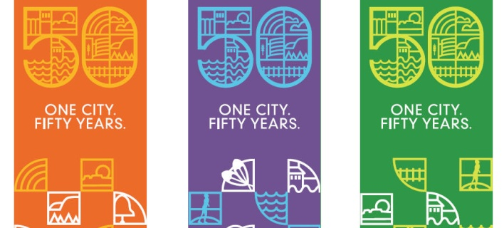 50th Anniversary Flags