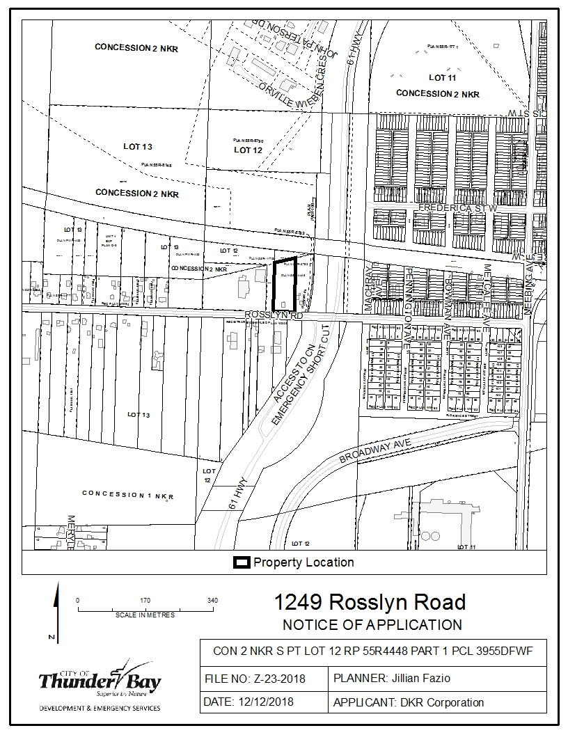 Notice of Application 1249 Rosslyn Rd