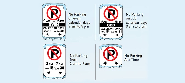 Winter Parking Signs